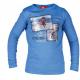 Fancy blå barntröja vintermotiv Horka