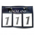 Nummerlapp Kingsland Classic Numberplate blue
