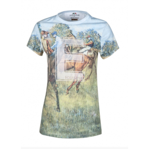Equiline Tinsel kortärmad tröja med hästmönster