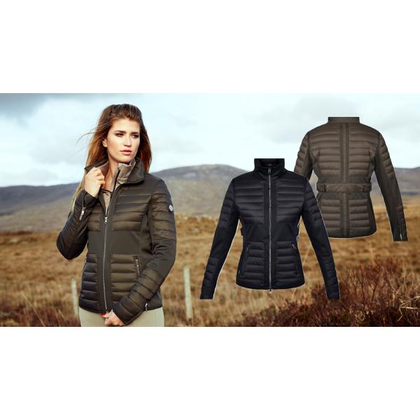Maroon ladies insulated jacket Kingsland