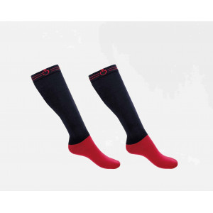 CT Super Tech Socks Cavalleria Toscana NAVY/BORDEAUX 7937