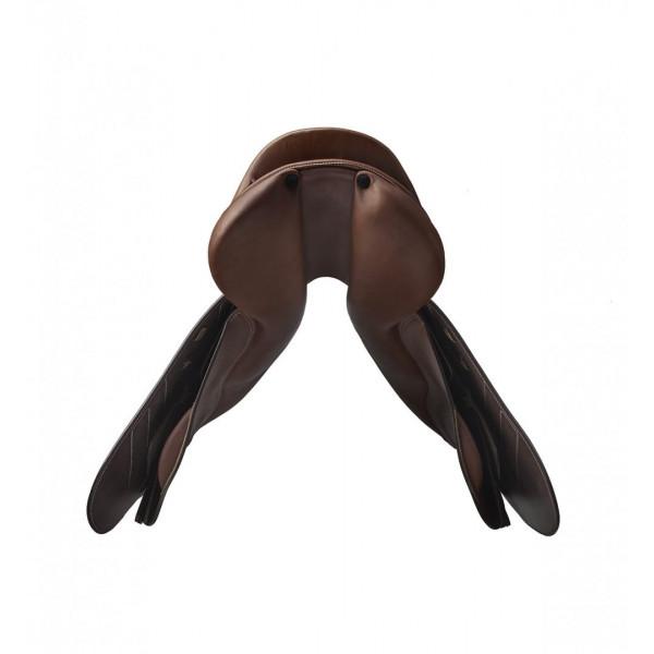 """Renaissance Hoppsadel """"F"""" Flatseat French leather med integrerade paneler."""