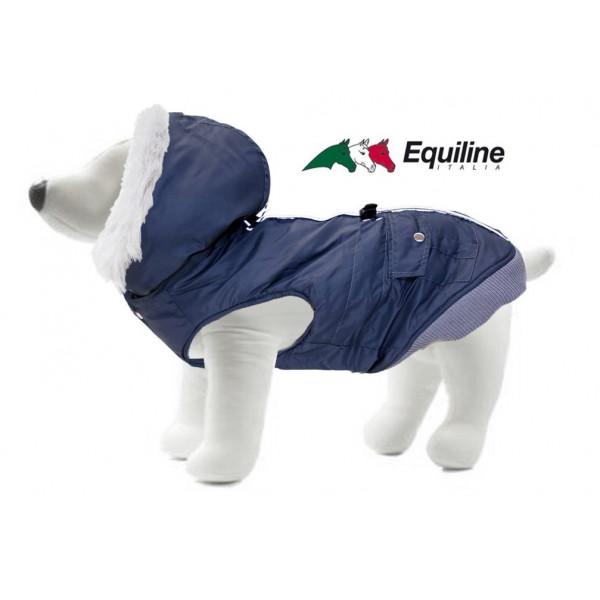 Hundtäcke Equiline WOLF med luva och pälskrage