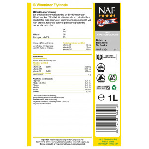 NAF B-vitamin sockerfri Flytande 1 l