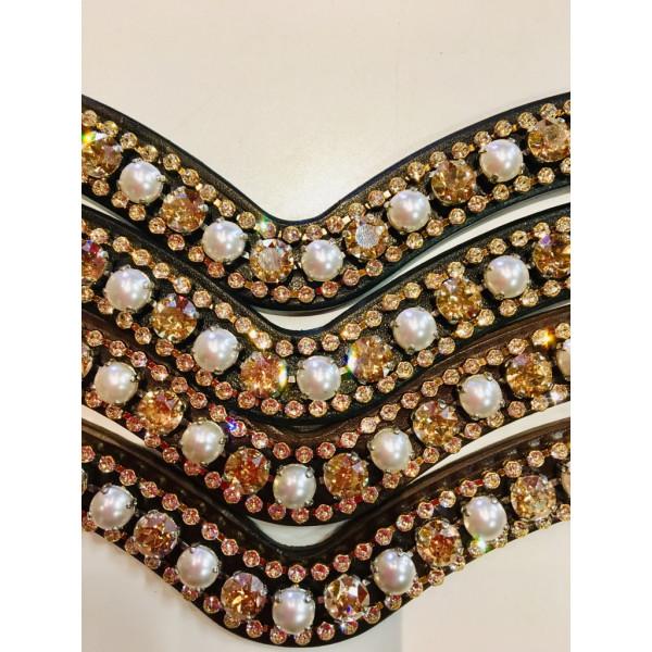 Döbert diamant & pärlpannband svängt