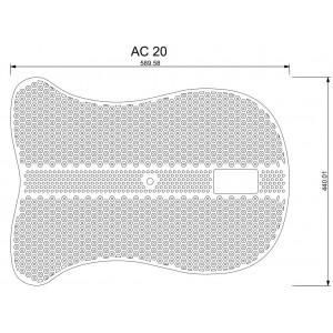 Acavallo Air Release Soft Gel Pad med hål AC102 SKISS