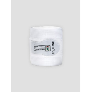 Equiline Sandown work bandage fleece elastik vit