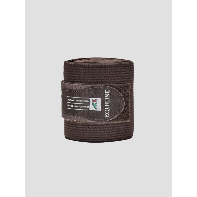 Equiline Sandown work bandage fleece elastik mörkbrun