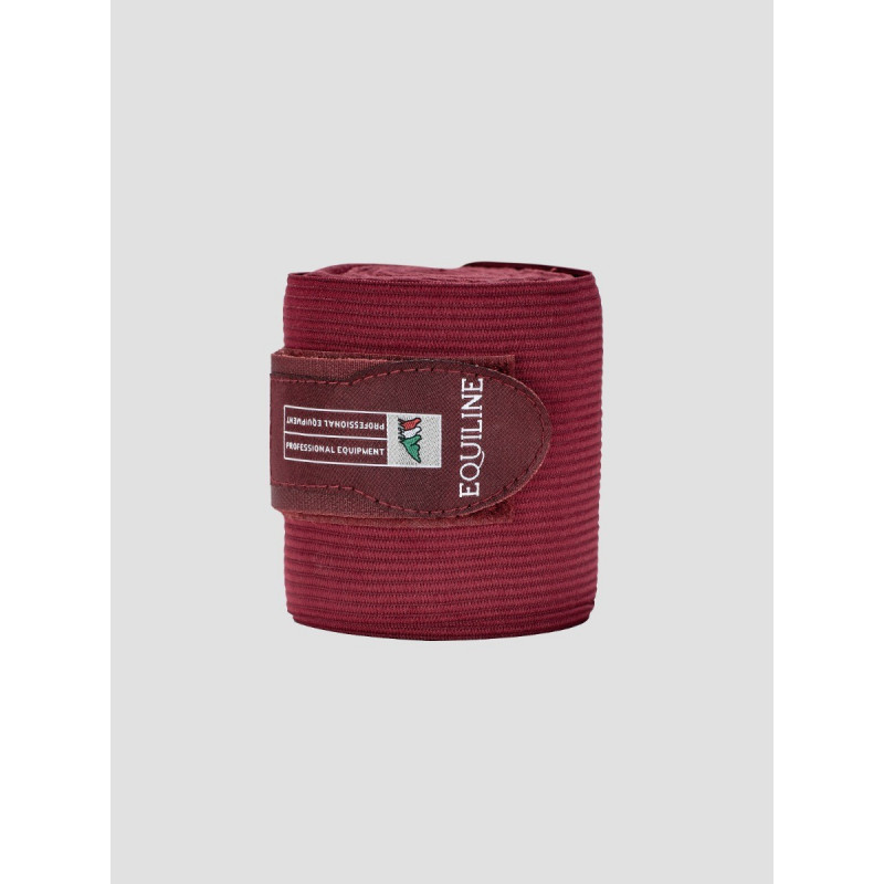 Equiline Sandown work bandage fleece elastik Burgundy vinröd