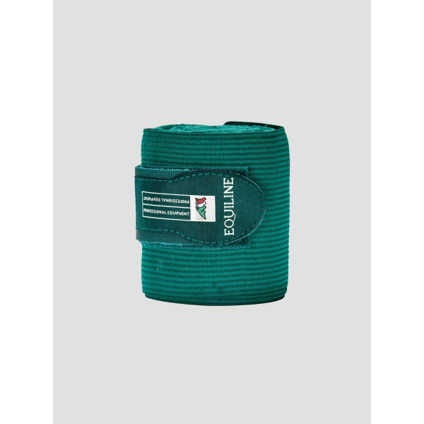 Equiline Sandown work bandage fleece elastik Bottle green grön buteljgrön