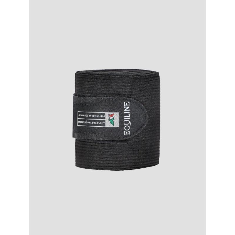 Equiline Sandown work bandage fleece elastik Black