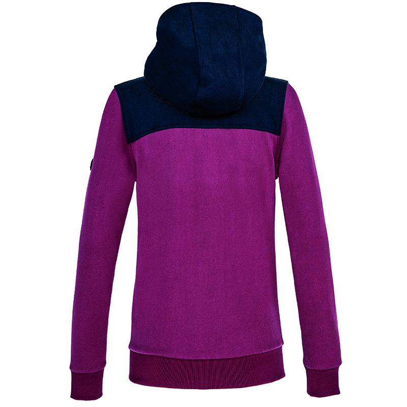 OBS! Bilden visar fel färg!! Equiline Colover sweatjacket hoodie Equiline Colover huvtröja hoodie navy/vinröd
