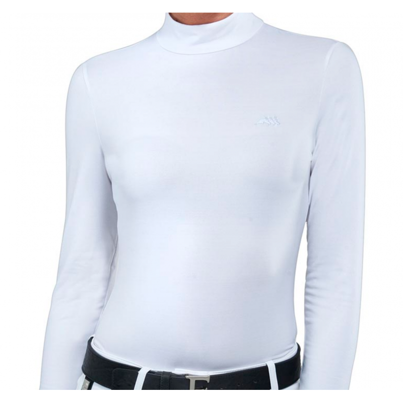 Equiline Drilla Funktionströja Polo turtleneck vit