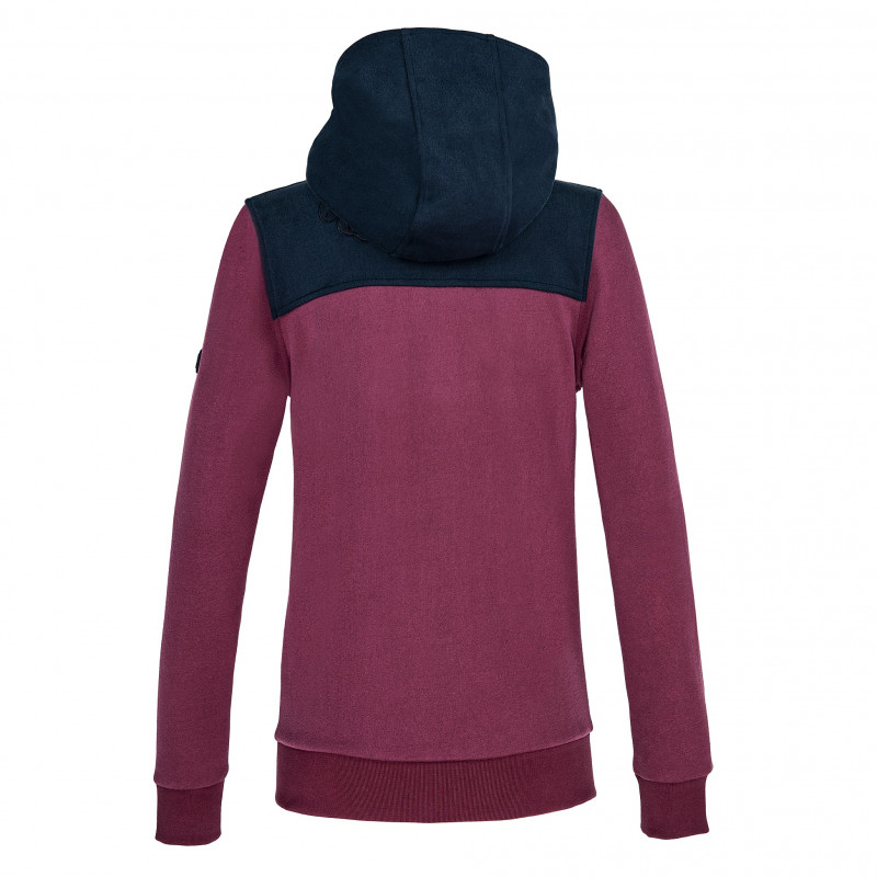 Equiline Colover huvtröja hoodie navy/vinröd