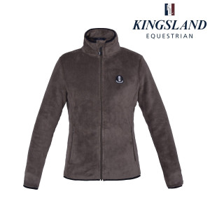 Zoes ladies Coral Fleece Jacket Kingsland 586 Brown Chocolate Chip