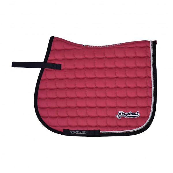 Kingsland Rigaud Saddle Pad Coolmax Hoppschabrak Pink Carmine