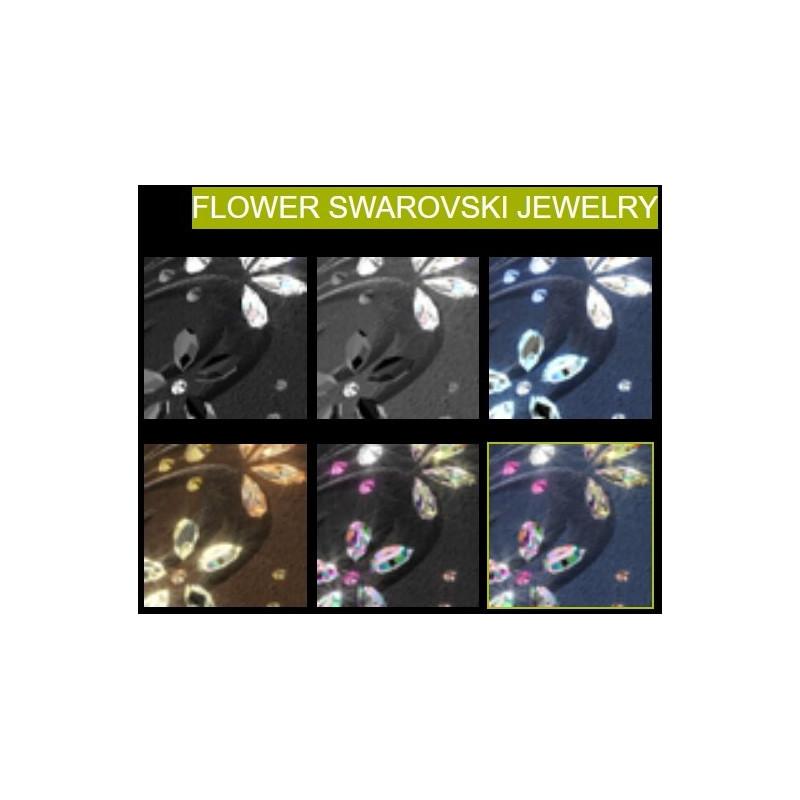 Flower Swarovski Jewelry Top - tillval till Samshield ridhjälm