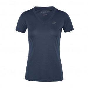 KLdesma Ladies V-neck T-Shirt Blue China Kingsland KL-201-PT-224-2012