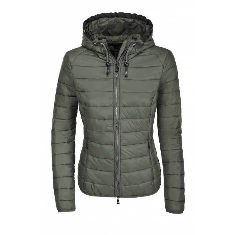Jean quilted ladies jacket Pikeur laurel green