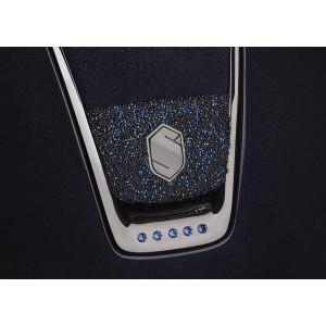 Bermuda Blue Blazon. Crystal Fabric blazon - Crystal Fabric blazon option by Swarovski® tillval till Samshield ridhjälm