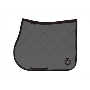 Cavalleria Toscana schabrak Jersey Quilted Rhombi Jumping Saddle Pad Grey/Navy CT-SOT029-JE002-8379