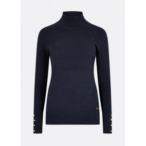 Dubarry Brennan Knitted Sweater stickad damtröja NAVY