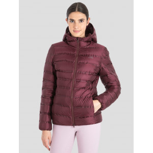 Burgundy woman down jacket Q10693 Equiline