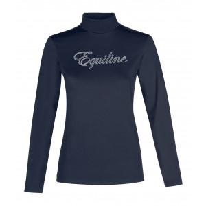 Equiline Polo Girl långärmad träningspolo funktion marinblå