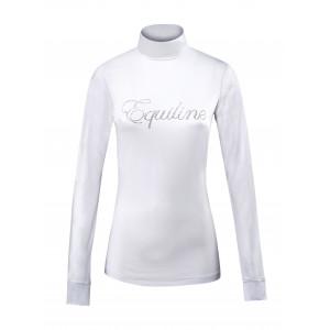 Equiline Polo dam långärmad tränings- & tävlingspolo vit