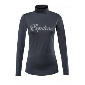Equiline Polo dam långärmad träningspolo marinblå