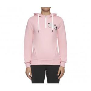 Cavalleria Toscana Girls Love Horses Hooded Zip Sweatshirt Pink Junior