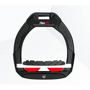 Flex-on Safe-on Junior säkerhetsstigbygel m. vit platta black/red