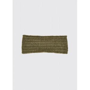 Dubarry Foley stickat pannband med fleecefoder Dusky Green (milt olivgrön)