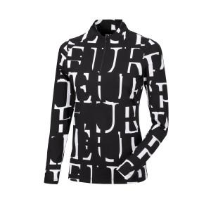 Pikeur Marla funktionströja training shirt svart-vit