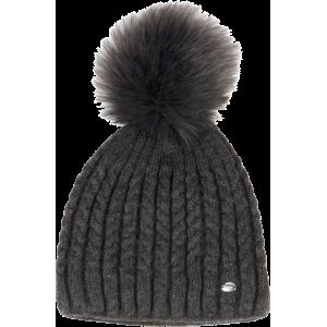 Pikeur Bobble Hat stickad mössa ASPHALT Pik-885200-326-280