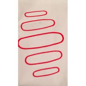 Ridbyxa Archimede Equiline vit med rött supergrip