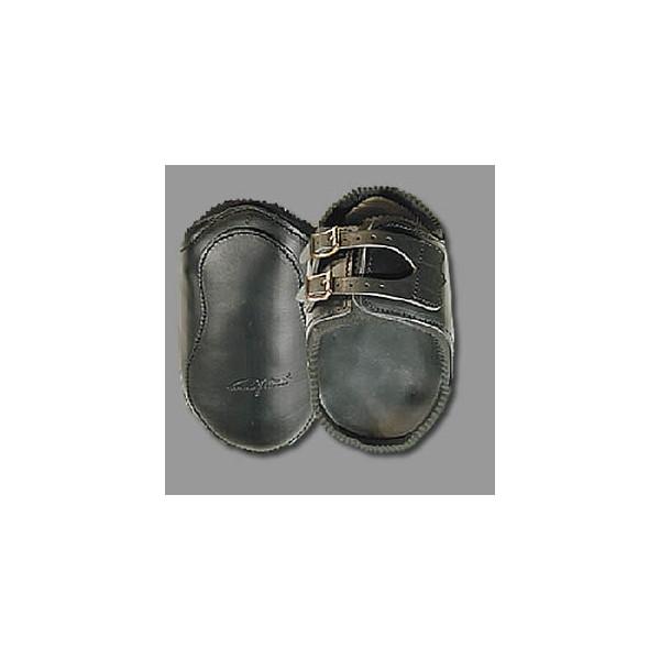 Bakbensskydd i läder med neoprenfoder Dyon