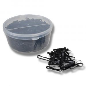 Flätningsband i silikon/gummi i plastburk 500st