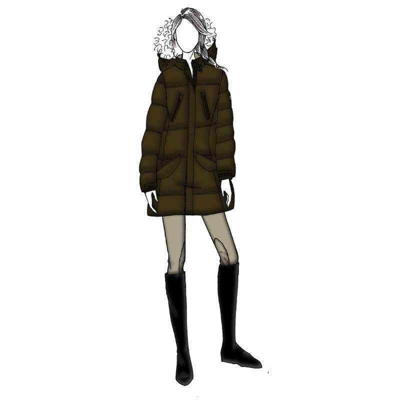 Blanch Lång Vinterjacka Equiline