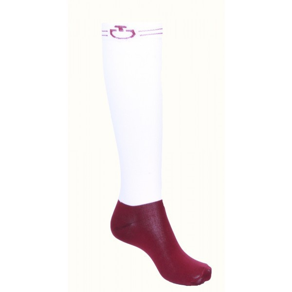 CT Super Tech Socks Cavalleria Toscana WHITE/BORDEAUX 0137