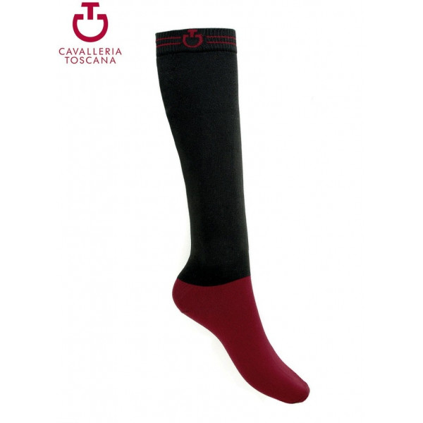 CT Super Tech Socks Cavalleria Toscana BLACK/BORDEAUX 9937