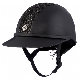 NEW! Charles Owen SP8 Sparkly leatherlook med solskärm COPYRIGHT ALE RIDSPORT!!