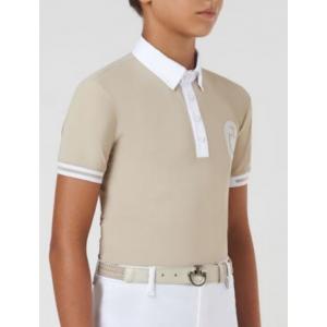 Boy's CT Flock Polo tävlingsskjorta barn Cavalleria Toscana